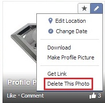 delete facebook all photos