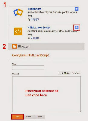 add Adsense on blogger