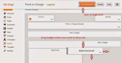 show Adsense ads on blogger