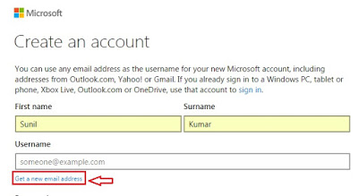 outlook account