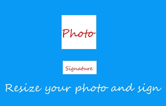 resize photo and sign