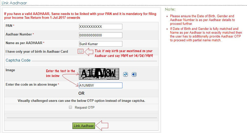 How to Link Aadhaar Card with PAN Card Online and Through SMS
