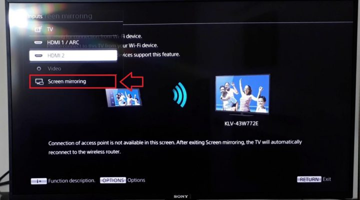 How to Use Sony Screen Mirroring Feature