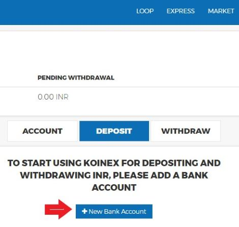 add bank account koinex