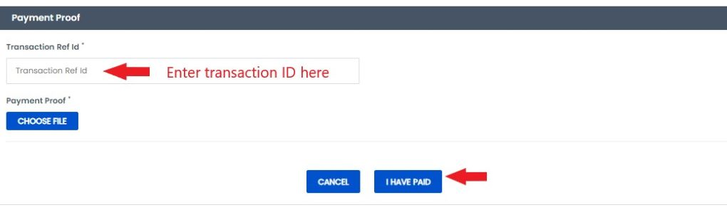 enter transaction id